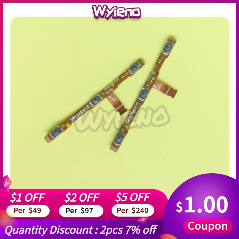 Wyieno Power Switch On/off For Alcatel 1 OT5033 3 OT5052 OT5044 OT5049 OT5095 Idol 2 Mini OT6016 Power Volume Button Flex Cable