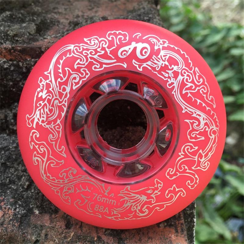 [72mm 76mm 80mm] 88A Or 89A Slide Skating Wheel For SEBA HV HIGH HL IGOR WFSC KSJ Inline Skates Wheel Ruedas 4 Pcs/set