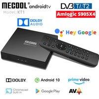 MECOOL KT1 DVB-T2 Amlogic S905X4 Android TV 10 DVB C Set Top Box 2GB 16GB AV1 BT WiFi 2,4G/5G LAN Dolby Google Decoder TV BOX