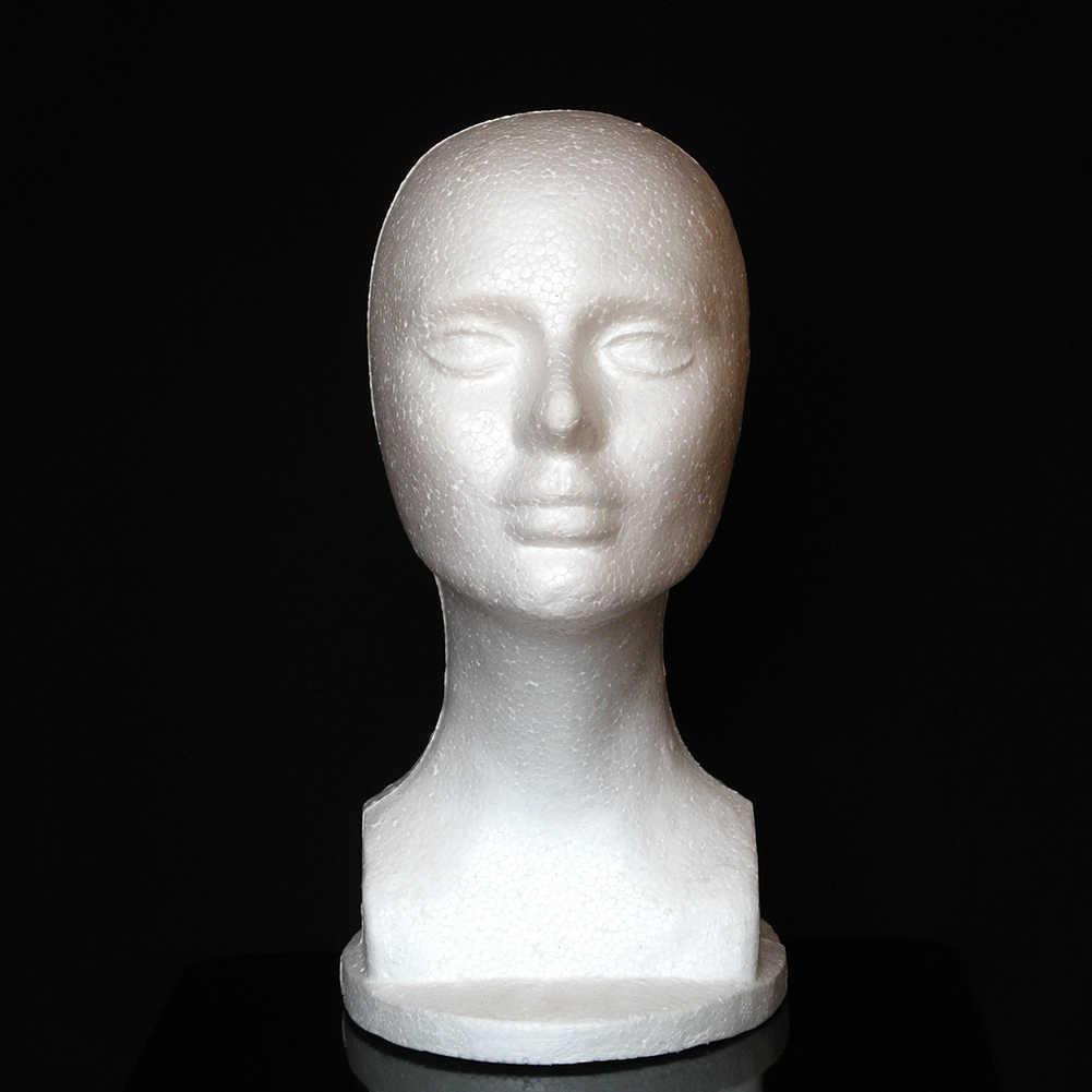 หญิงโฟม Mannequin หัว Manikin Shop วิกผมเครื่องประดับยืนแสดงอุปกรณ์จัดแต่งทรงผม