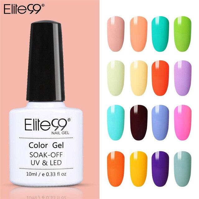 Elite99 Nail art Gel 10ML Reine Nagel Farbe UV LED Gel Nagellack langlebig Macaron weg Tränken lack Gel Lack