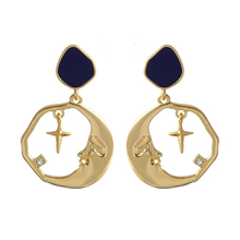 Drop-Earring Jewelry Moon Star Bohemia Women Fashion New-Arrival for Handmade Appointment