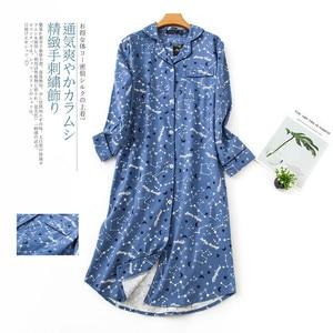Image 5 - Женское длинное платье для сна размера плюс, теплая зимняя пижама из 100% хлопка с начесом, ночные рубашки с длинным рукавом