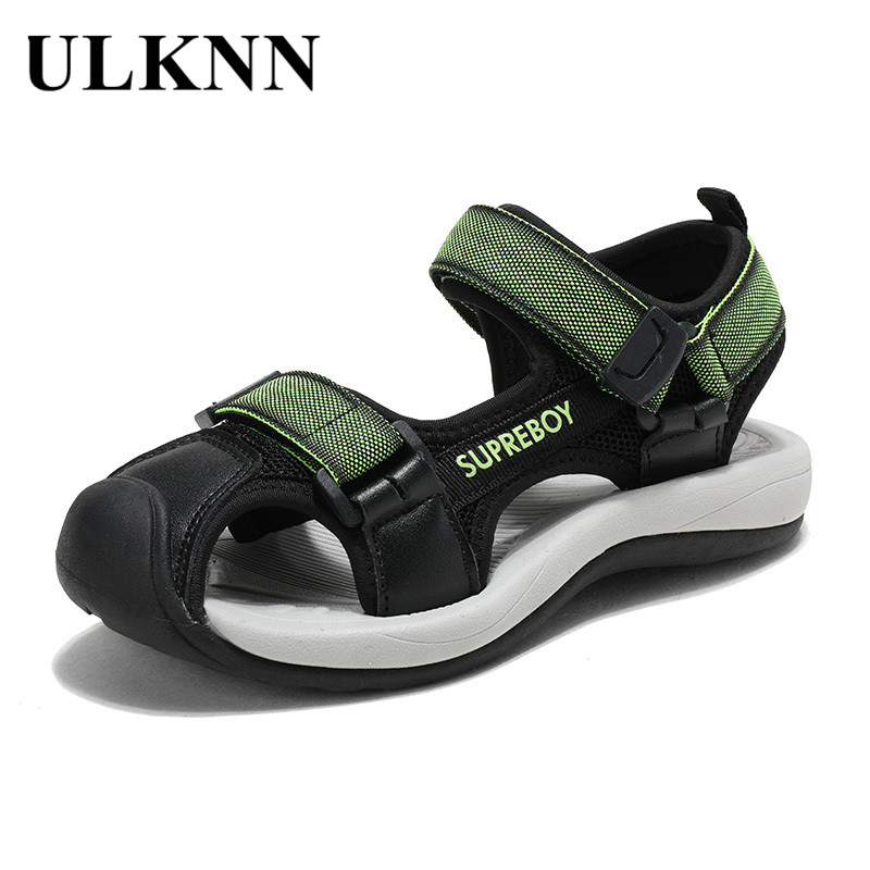 ULKNN Boys Sport Shoes Comfortable Sandalia Infantil Kids Sandals Beach Summer Children Shoes Flats Close Toe Toddler Baby