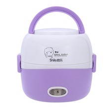 MINI Rice Cooker Thermal Heating Electric Lunch Box 2 Layers Portable Food Steamer Cooking Container Meal Lunchbox Warmer(US Plu(China)