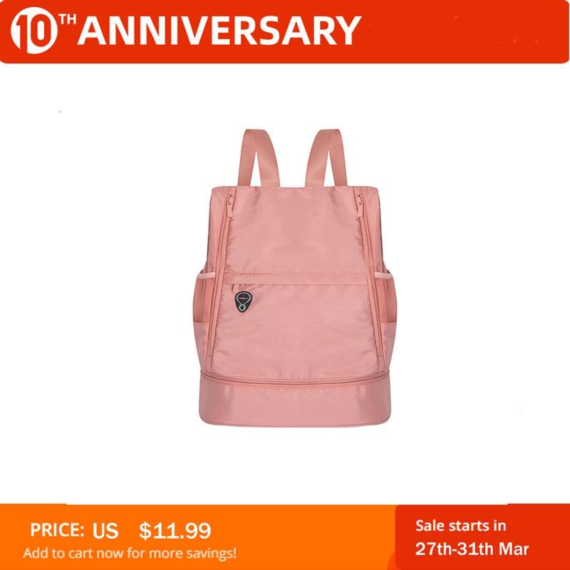 Multifunction Fitness Bag Large Capacity Dry And Wet Separation Sports Bag Shoulder Messenger Bag Couple Handbag Travel Solid#TX