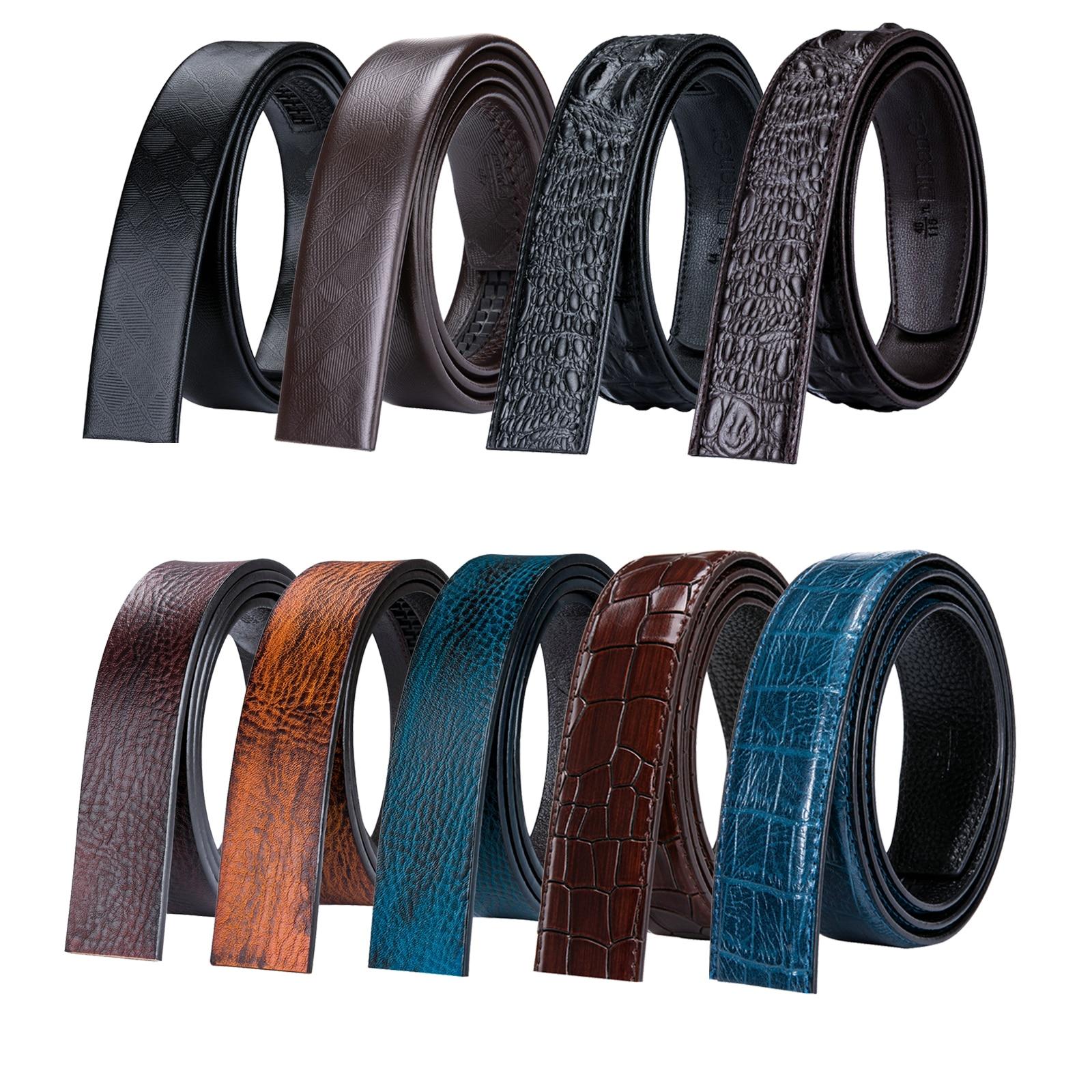 6 Color de piel de vaca genuino cinturón de cuero sin hebilla de correa de cuero de cuerpo hebilla para hombres de diseñador cinturones cuerpo 3,5 cm amplia