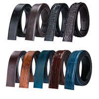 3.5cm Men's Belt without Buckle High Quality Cowskin Genuine Leather Belt no Buckle Automatic Leather Replacement Belt for Mens