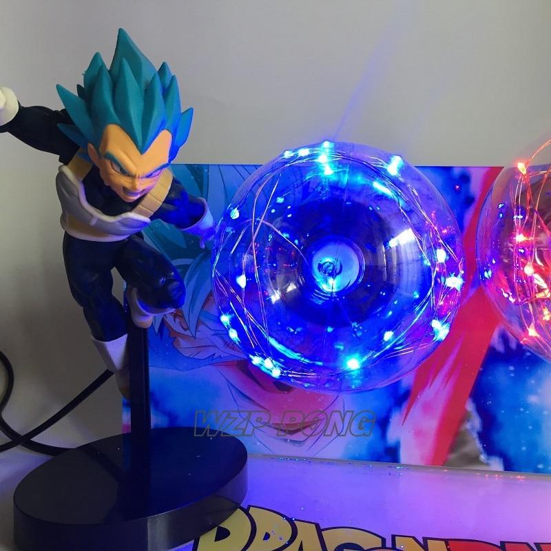 21 см Dragon Ball Son Goku vs Vegeta светодиодное украшение фигурка куклы игрушки ПВХ фигурка Коллекция Модель игрушки подарок - 5