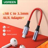 UGREEN USB C do 3.5mm gniazdo słuchawkowe Adapter typu C do Aux kobieta Adapter Audio kabel Dongle dla Huawei Mate 30 Pro P30 OnePlus
