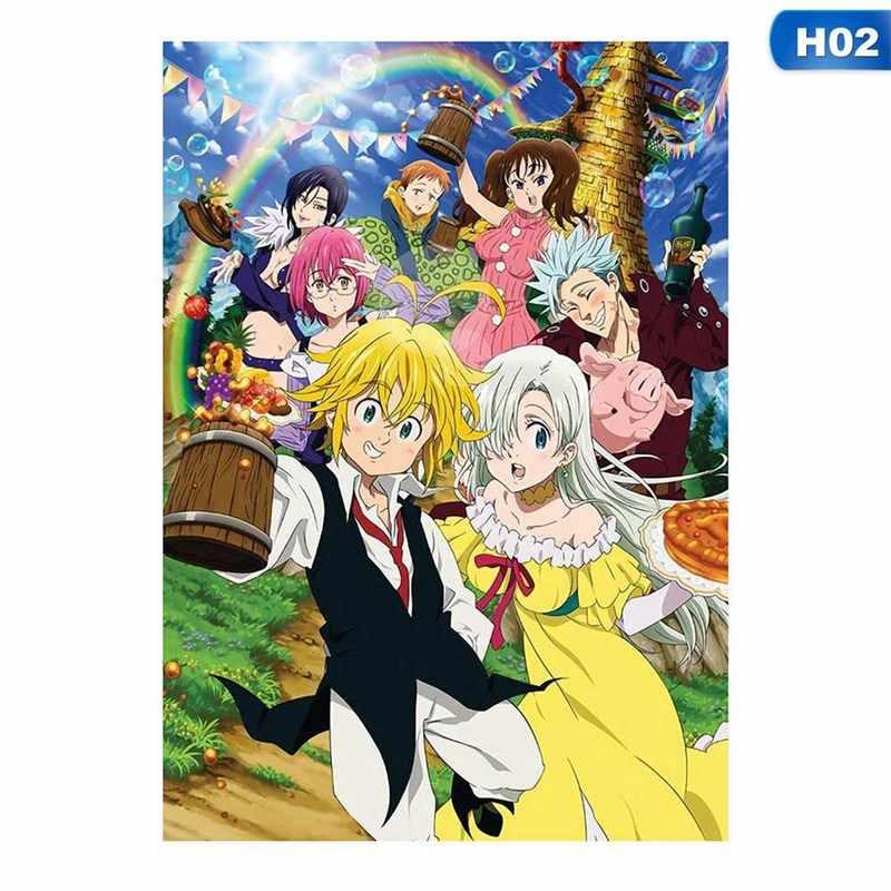 อะนิเมะSeven Deadly Sins Nanatsu No Taizai Meliodas X Elizabeth Anime Mangaโปสเตอร์โปสเตอร์ผนัง