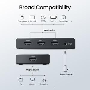 Image 3 - Ugreen HDMI 2.0 HDMI التبديل 3 منافذ 4K 60Hz 3X1 ل مي مربع PS4 نينتندو التبديل PC 3 في 1 خارج 3 منافذ HDMI الجلاد الفاصل