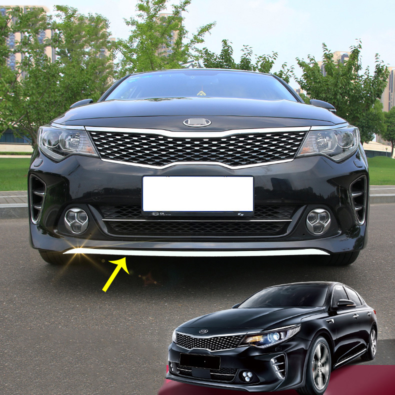 Auto Accessories ABS Chrome Front Bumper Lip Trim Cover 1pcs for <font><b>Kia</b></font> Optima 1.6T 2016-2018 image