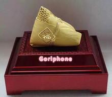 2020 gorący chiński smok łódź festiwal smok łódź festiwal wyścig smok łódź Zongzi prawdziwe złoto poszycia luksusowe złote Zongzi Chines tanie tanio NoEnName_Null Metal for gift Apple iphone real gold request logo original housing diamond