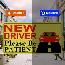 2019 Yeni Sürücü Etiket Yansıtıcı Manyetik Araba Çıkartmaları Araç Işareti Manyetik Tampon Çıkartmaları Araba Sticker Yeni Sürücü için