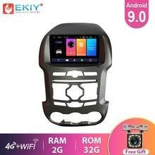 EKIY 9'' IPS Android 9.0 Car Radio For For Ford Ranger F250 2011-15 Stereo Multimedia Video Player GPS Navigation USB Wifi BT HU
