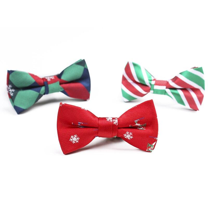 2019 Детский галстук-бабочка, рождественские жаккардовые галстуки-бабочки, креативные модные милые вечерние галстуки на шею, полосатые