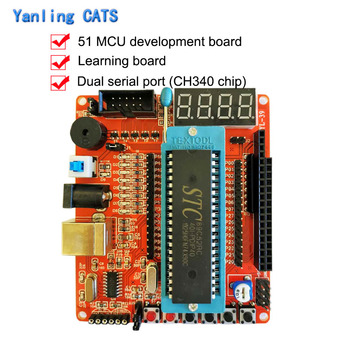 51 MCU Development Board with STC89C52RC Compatible for AT89S51 AT89S52 Microcontroller  Learning Board DIY Intelligent CarYL-39 недорого