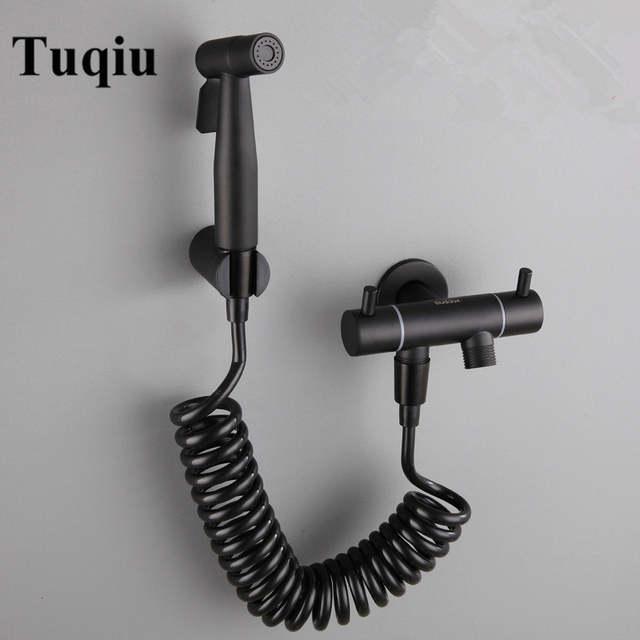 1 Tuqiu Mano Bidet Pulverizador Shower Black Bath Suite 304