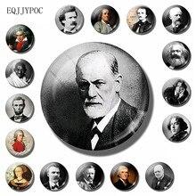 Sigmund freud geladeiras adesivo magnético 30mm psicologia psicanálise pessoas famosas geladeira ímã lembrança decoração da sua casa