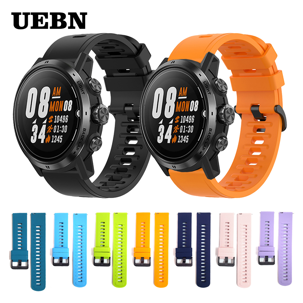 UEBN Sport Silicone Watchband Wrist Band For COROS APEX Pro Strap For APEX 42mm 46mm Watch Replaceable Accessories Watchbands
