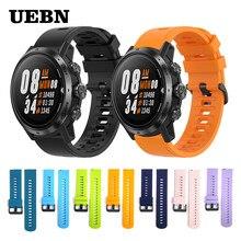 Uebn esporte silicone pulseira de pulso para coros apex pro cinta para apex 42mm 46mm relógio acessórios substituíveis pulseiras