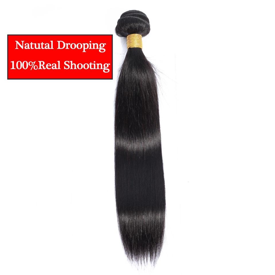 Straight Hair Bundles Non Remy Hair Extension Brazilian Peruvian Human Hair Weave Bundle Deals 8-28 30 32 Inch Hair Bundles