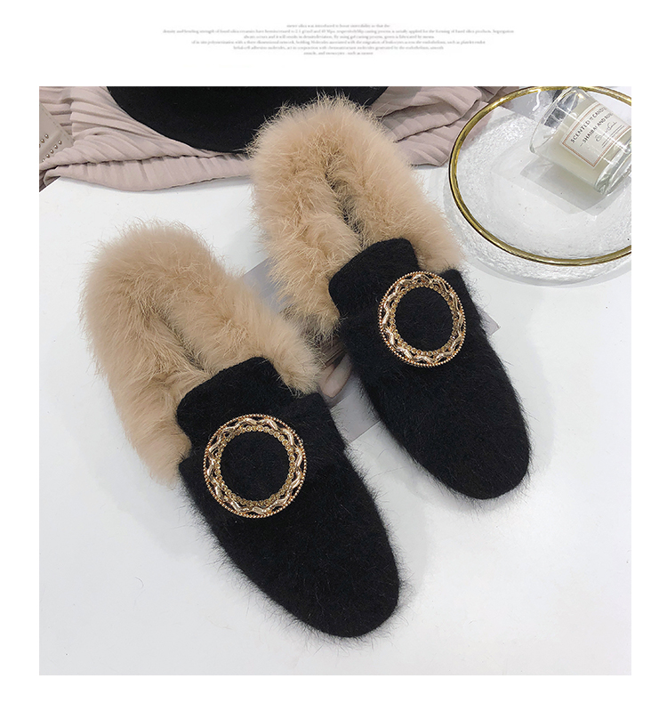 All-Match Shoes Woman 2019 Dress Flats Women Shallow Mouth Loafers Fur Modis Women's Moccasins Round Toe Casual Female Sneakers 50