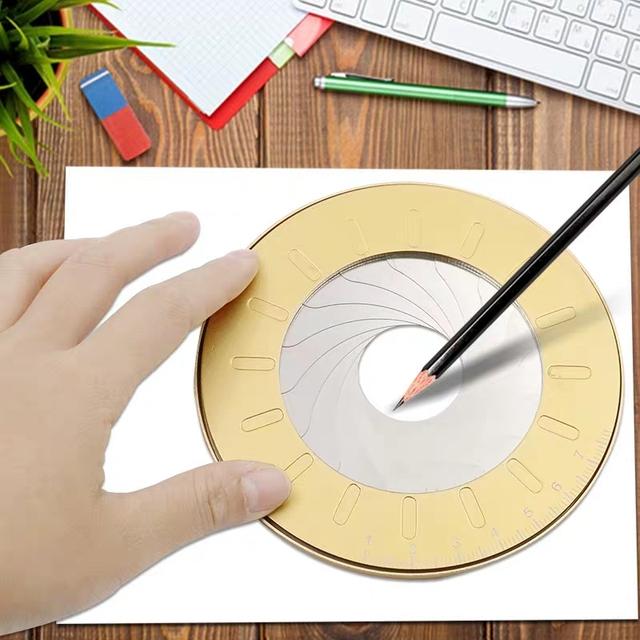 Okrągłe ze stali nierdzewnej Compas koło narzędzie do rysowania szkoła linijka zestaw geometria kompas profesjonalny rysunek Compas regulowany rozmiar tanie tanio BT0001 Metal Kompasy Golden Yellow Round 160g