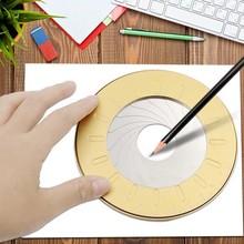 Rotonda In Acciaio Inossidabile Compas Cerchio Strumento di Disegno Righello Scuola Set Geometria Bussola Professionale Disegno Compas Misura regolabile