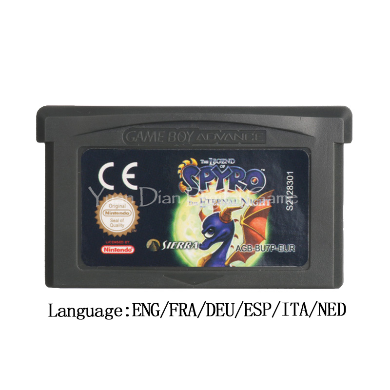 For Nintendo GBA Video Game Cartridge Console Card The Legend of Spyro The Eternal Night EU Version image