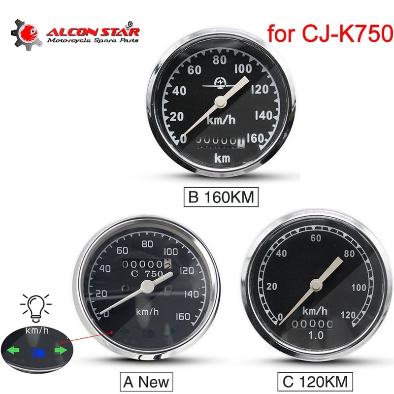 ALconstar- 120KM 160KM Retro Round Motorcycle Speedometer CJ-K750 For BMW R50 R1 R71 R12 For Ural M72 Install At Headlight
