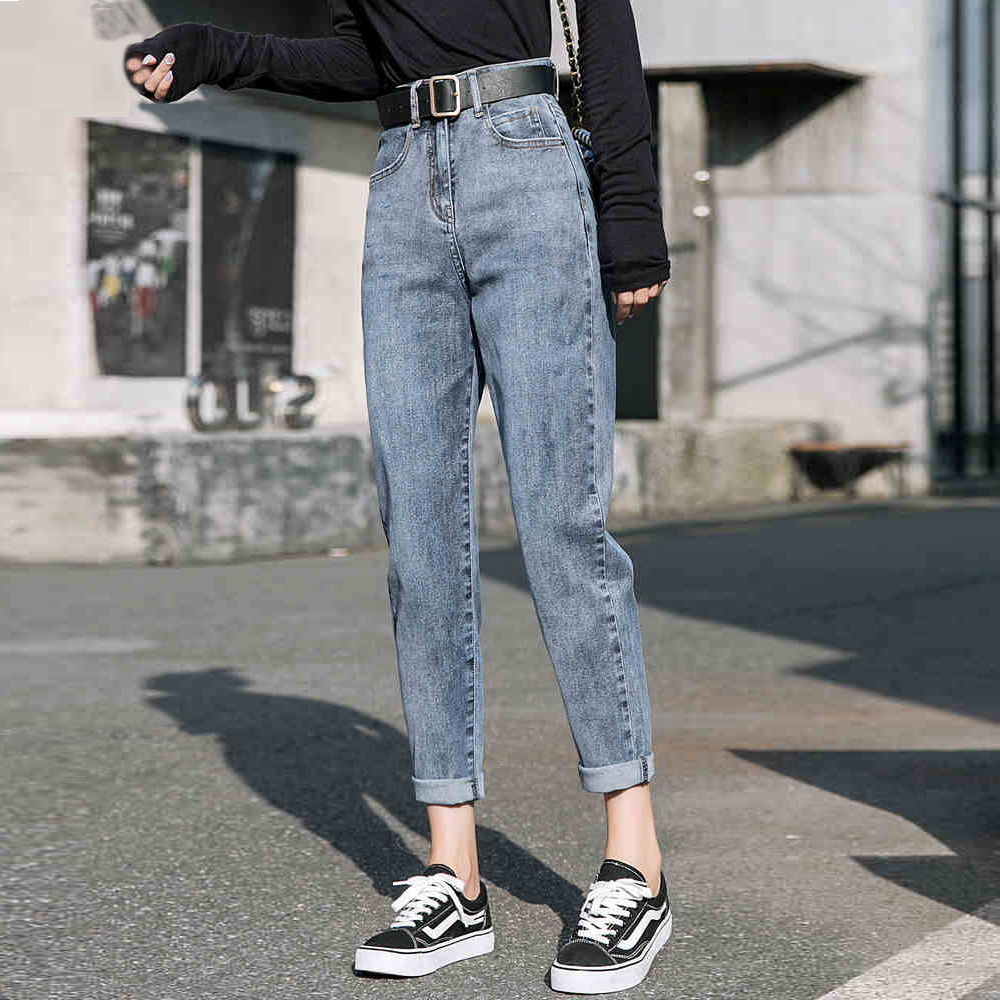 2020 High Waist Jeans Women Loose Harlan Torre Pants Autumn And Winter New Slim Ins Straight Pants