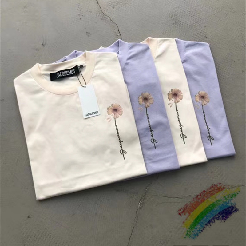 Oversized Jacquemus Embroidery T Shirts Men Women 1:1 Best Quality Casaul Top Tee Jacquemus T-Shirts