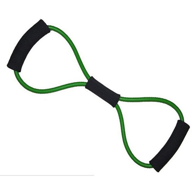 Home Sport Fitness Yoga 8 Shape Pull Rope Tube Equipment Fitness Belt Tool Gym Exercise send in random 4