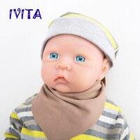IVITA WG1521 50cm 3600g Realistic Silicone Reborn Dolls Newborn Baby Infant Toddler Lifelike Skin Soft High Quality Girl Toys