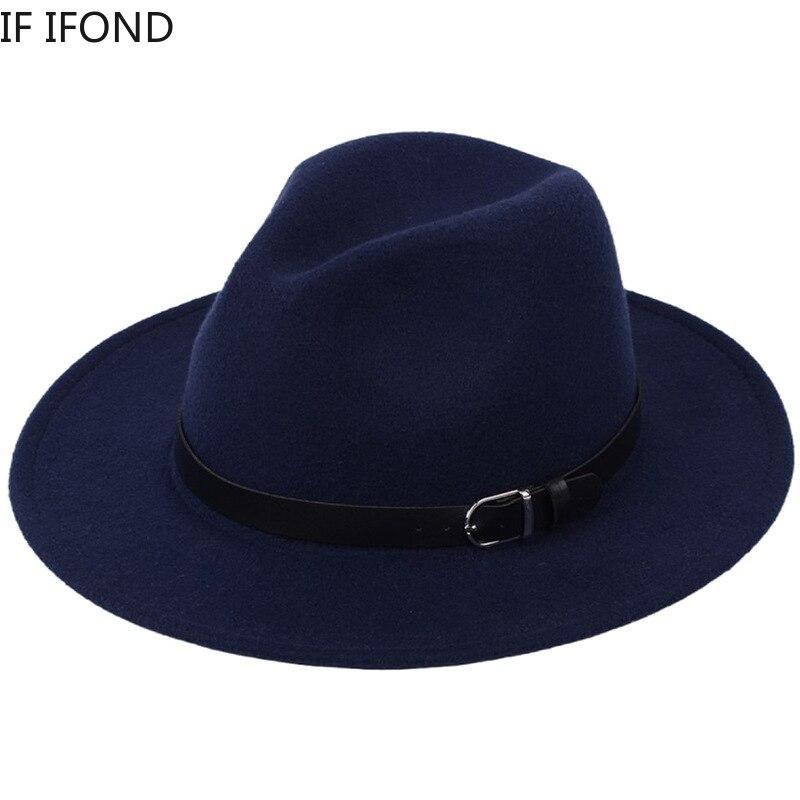 Classic British Fedora Hat Men Women Imitation Woolen Winter Felt Hats Men Fashion Jazz Hat Fedoras Chapeau wholesale 6