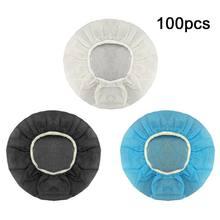 100 pçs capa de fone de ouvido descartável não tecido higiênico dustproof sweatproof elástico almofada de ouvido netbar headset accessorie
