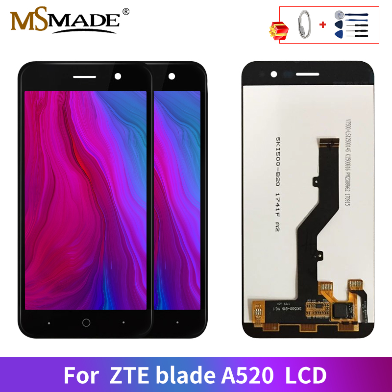 AAA Quality LCD For <font><b>ZTE</b></font> <font><b>Blade</b></font> <font><b>A520</b></font> LCD Display Touch <font><b>Screen</b></font> Digitizer Replacement Parts For <font><b>ZTE</b></font> <font><b>Blade</b></font> <font><b>A520</b></font> LCD Display image