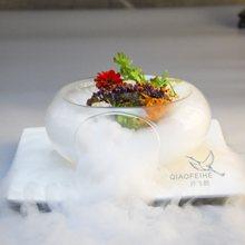 Bols à salade faits à la main, spécial glace sèche, design artistique, bol en verre, délicatesse moléculaire, vaisselle créative, cuisson creuse