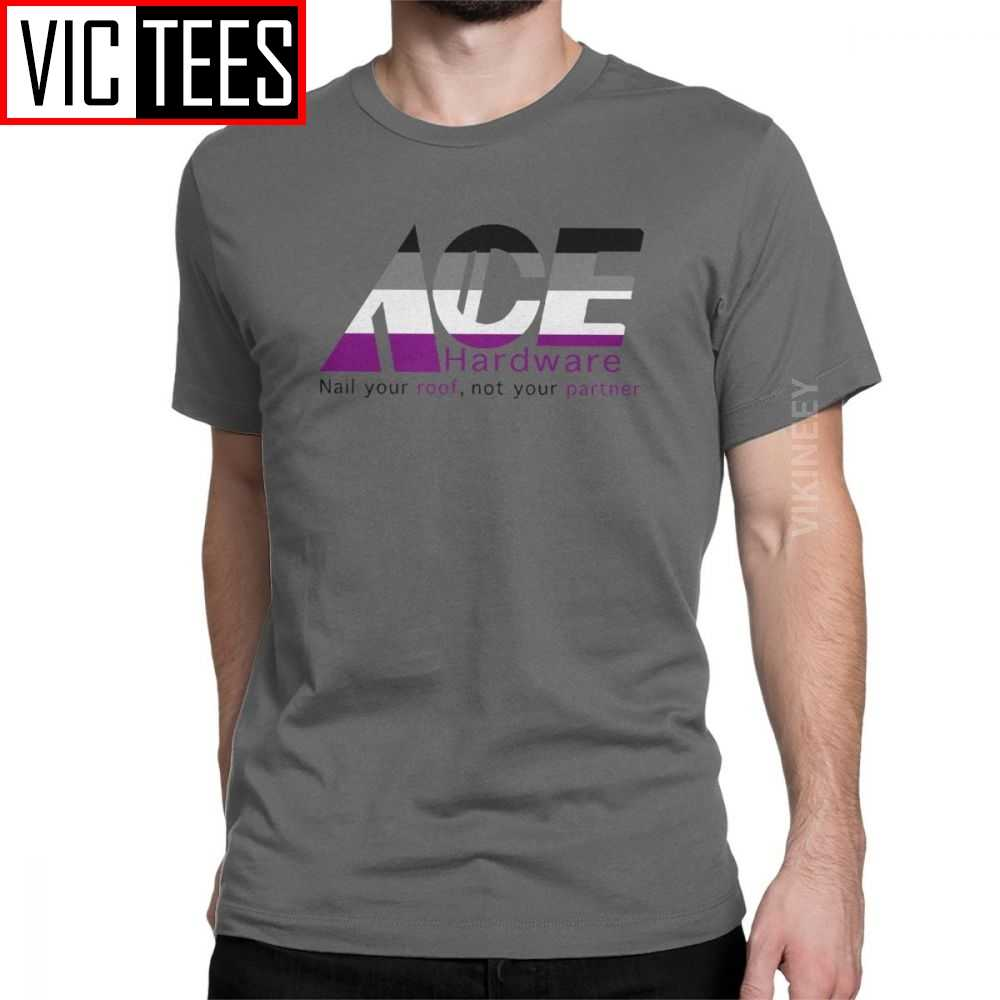 Vintage ACE Hardware Asexual T-Shirt für Männer 100 Prozent Baumwolle T-shirt Stolz Asexuality Lgbt Lgbtq Großhandel
