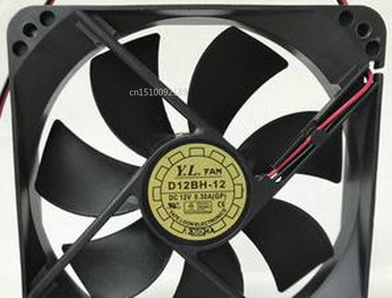 For 12025 D12BH - 12 DC12V 12 Cm Mute Cooling Fan Fan Free Shipping
