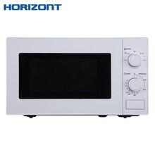 HORIZONT Микроволновая печь 20MW700-1378DMW объемом 20 литров с режимом работы «Микроволны» и механическим типом управления