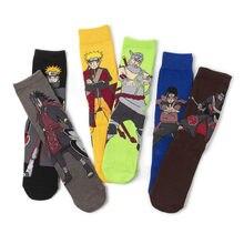 Anime japonês naruto uzumaki meias de algodão harajuku moda dos desenhos animados impressão pein uchiha madara tripulação meias cosplay adereços
