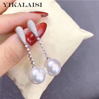 YIKALAISI 925 Sterling Silver 2020 Natural Pearl jewelry 10 11mm Earrings heart For Women wholesale Exquisite romance