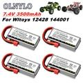 Оригинальный литий-полимерный аккумулятор 2s 7,4 В 3500 мАч, Модернизированный перезаряжаемый аккумулятор для Wltoys 12428 1:12, Радиоуправляемый авто...