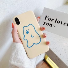INS Korea cute cartoon sugar bear mobile phone case for iphone Xs MAX XR X 6 6s 7 8 plus funny pattern silicone Capa