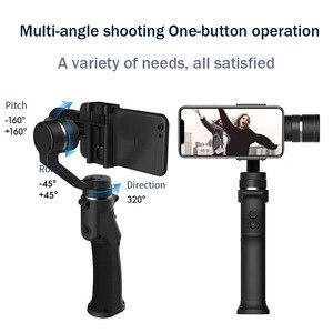 Image 2 - Funsnap 3軸スタビライザー3コンボハンドヘルドスマートフォンiphone用移動プロ7 6 5 sjcam eken李アクションカメラズーム
