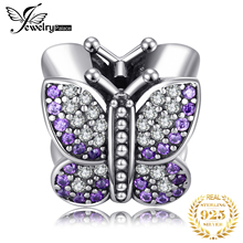 JewelryPalace 925 Sterling Silver Butterfly Murano Glass Beads Charms Original For Bracelet original Girl