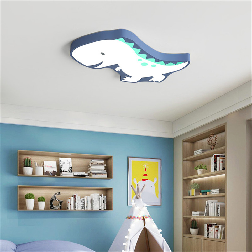 Modern Kids Room The Dinosaur LED Lamp Ceiling Light Cartoon Light Boy Gril  Bedroom Colorful Lighting Fixture AC12-12V